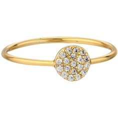 gorjana Shimmer Disc Ring, Gold ($25) ❤ liked on Polyvore featuring jewelry, rings, gold, gold jewellery, gold rings, 18k jewelry, 18k gold jewellery and 18 karat gold ring
