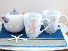 homework: creative inspiration for home and life: Etceteras: sharpie coffee mugs [starfish]