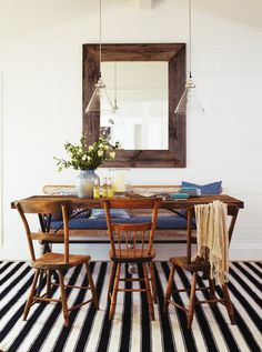 Rustic & Casual Dining Room.