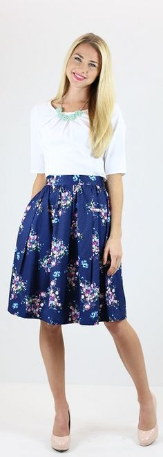 Full Floral Skirt [MSS9202] - $49.99 : Mikarose Boutique, Reinventing Modesty