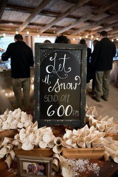 creative snow wedding send off ideas wedding decorations 25 Creative Winter Wedding Ideas that are not Christmas Overloaded Wedding Send Off, Wedding Exits, Wedding Bells, Wedding Ceremony, Our Wedding, Dream Wedding, Fake Snow Wedding, Snowflake Wedding, Wedding Unique