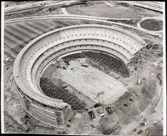 construction of Shea Stadium NYC, 50 years ago: Baseball Park, Sports Baseball, Baseball Players, Baseball Stuff, New York Stadium, Lets Go Mets, Round Building, Shea Stadium, Sports Stadium