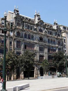 Beautiful building, located in the square of the City Hall of Porto. The exact address is Avenida Dos Aliados.