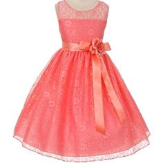 f1609cd34d3 Free Shipping. Buy Big Girls  Elegant Sleeveless Floral Lace Satin Sash Flower  Girl Dress