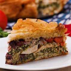 Chicken Spinach Feta Pie
