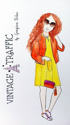 I love outfits from @GeorgianaBoboc always so colorful and inspiring #bloggerdrawing #luciedraws