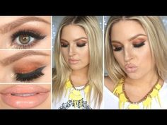 Warm Clubbing Smokey Eyes! ♡ Dramatic & Sexy w/ Nude Lips! - YouTube