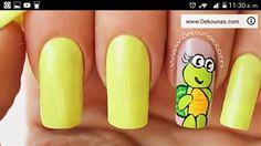 Deko uñas by diana diaz Flower Nail Designs, Nail Art Designs, Nail Art Diy, Diy Nails, Turtle Nails, Cartoon Nail Designs, Flower Nails, Manicure And Pedicure, How To Do Nails