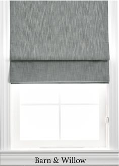 Roman Shade in a chic flat style. Made of certified organic cotton, this custom window shade is hand-stitched by expert hands. Custom Roman Shades, Flat Style, Fashion Flats, Window Coverings, Organic Cotton, Barn, Hands, Chic, Fabric