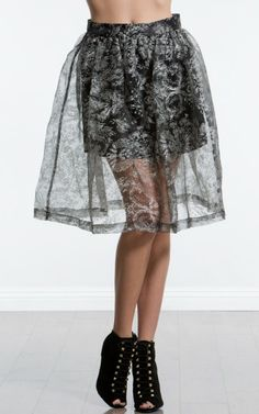 Winter Floral Organza Skirt