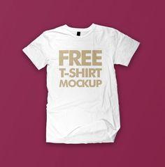 White Front T-shirt Mockup@tshirtzoon