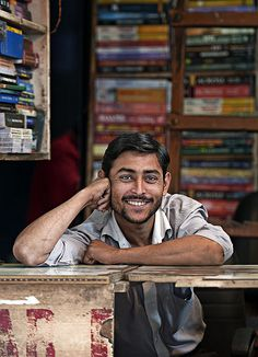 The Bookshop...I dont know what it is about this guy's face..his smile..his energy ..his aura is powerful