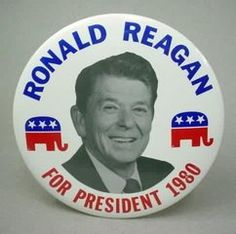 """Ronald Reagan 1980 """"Are you better off than you were four years ago?""""The Carter years sucked. Gas prices were at an all-time high and the country was thrust into a period of recession and infl. Greatest Presidents, American Presidents, Us Presidents, American History, Republican Presidents, 40th President, President Ronald Reagan, Presidential History, Presidential Election"""