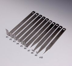 A Set of 10 -The Best Stainless Steel Pottery Trimming/Chattering/Carving Tools…