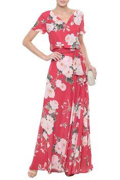 Vestido Crepe Floral Carmélia