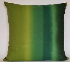 Green Pillow Cover / Marimekko Pattern / Handmade Pillow/ 18x18 inches (45x45cm)