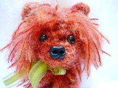 Red Pomeranian Crochet Dog Key Chain Accessory Key by KatesCache, $15.00