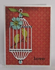 Love Birds. Outside the Box, Deborah Nolan, Memory Box Design Team.  (Apr'13)