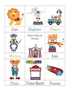 Printables for preschool learning, very cute!: