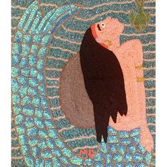 Galerie BonheurVoodoo Flags - Galerie Bonheur - Mermaid with Fish by Mireille Delice