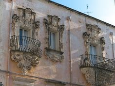 Nice balconies in the old center of Galatina (Lecce, Italy). Visit web site for more pictures!