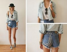 """Sietske L's """"When it was summer"""" look, featured in our post Top Shorts of Summer 2014"""