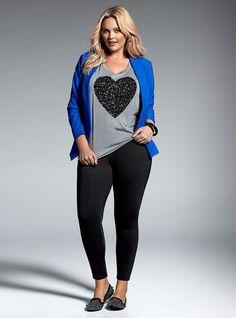 Plus Size Fashion for Women - Plus Size Open Front Blazer