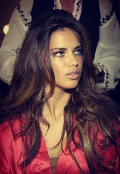 Absolutely Gorgeous Adriana Lima - what a face & that hair !