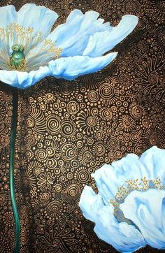 South African Artist, Cherie Dirksen - 'White Poppies'