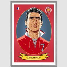 ERIC CANTONA Manchester United Portrait Art by THEFOOTBALLARTIST