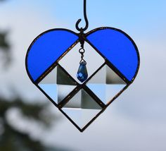 Stained Glass Beveled Glass Suncatcher by BayCreationsbyWendy