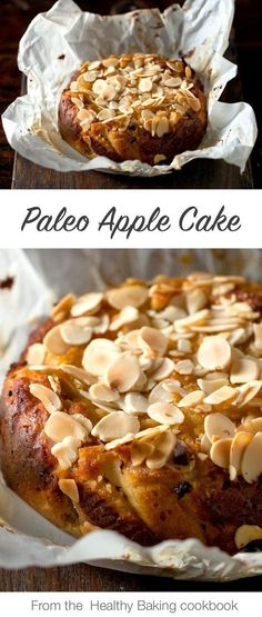 This glorious paleo apple cake recipe comes from author, celebrity chef, and wellness expert Teresa Cutter's massive encyclopaedia of healthy baking recipes, Healthy Baking – Cakes, Cookies + Raw. Paleo Dessert, Paleo Sweets, Dessert Recipes, Healthy Desserts, Recipes Dinner, Healthy Apple Cake, Healthy Cake Recipes, Desserts Menu, Easter Desserts