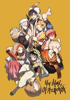 Boku no Hero Academia    Uraraka Ochako, Todoroki Shouto, Tenya Iida, Kaminari Denki, Kirishima Eijirou, Katsuki Bakugou, Midoriya Izuku.