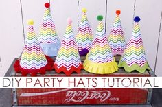 DIY Party Hat Tutorial - so adorable!