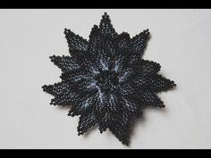 Master Class - Knitting volumetric the flower with beads - YouTube
