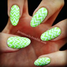 Did these a couple weeks ago and they turned out way more like Easter eggs than I planned. Good thing Easter is right around the corner! Base color is @chinaglazeofficial Grass is Lime Greener! #nailart #easternails