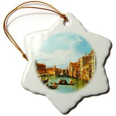 3dRose orn_162555_1 The Grand Canal and The Church of The Salute by Canaletto 1730 Snowflake Ornament, 3-Inch, Porcelain 3dRose http://www.amazon.com/dp/B00F0QKH8E/ref=cm_sw_r_pi_dp_N2Umwb02J6BC0