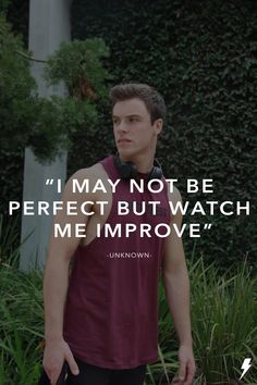 """I may not be perfect but watch me improve. Be Perfect, Athlete, Polo Shirt, Watch, Fitness, Mens Tops, Shirts, Inspiration, Fashion"