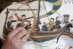 bayeux broderie : Selling of embroidery kits from the bayeux tapestry and other patterns. instructions includ