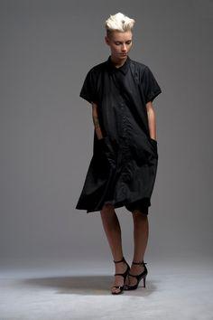 black dress / oversized dress / pocket dress by ezekielhandmade, ₪950.00
