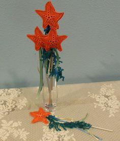 Starfish Wand Mermaid Party Favor on Etsy, $4.00