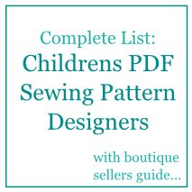 Definitive list of kids pdf sewing patterns - awesome !