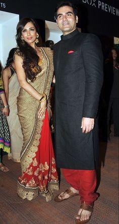 Malaika Arora Khan poses with her husband Arbaaz Khan #Bollywood #Fashion
