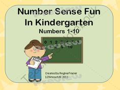 Number Sense Fun 1-10 printables Common Core Aligned from 123kteach on TeachersNotebook.com (42 pages)  - This is perfect for the beginning of the school year as you teach number sense to your students. This is a pack of 40 worksheets along with goals and Common Core Standards addressed.