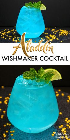 ALADDIN WISHMAKER COCKTAIL - This Will Take You To A Whole New World Disney Cocktails, Cocktail Disney, Beste Cocktails, Cocktail Drinks, Cocktail Tequila, Cocktail Movie, Cocktail Sauce, Cocktail Attire, Cocktail Shaker