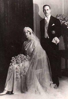 Paris le 29.04.1931 : mariage du prince Gaëtan de Bourbon-Parme (1905-1958) et de Margarete von Thurn und Taxis (1909-2006)