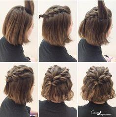 10 Belles Coiffures Faciles Sur Cheveux Courts Hair Coiffure
