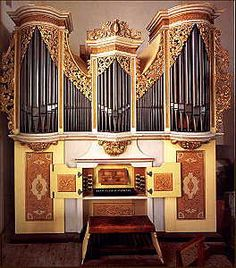 Small organ - The Great Silbermann Organ (1714), Freiberg Cathedral, Saxony