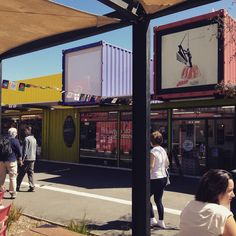 Christchurch, NZ ReStart Container mall! After the earthquakes, much of the city was destroyed, but innovative people have created amazing ways to make beautiful things from the rubble. Each store is in a shipping container that is 100% portable! I've been many times, and it's awesome!