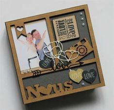 J'aime l'idée du fanion avec le coeur. Scrapez la St Valentin avec Thalie ! Mini Albums Scrap, Mini Scrapbook Albums, Saint Valentine, Valentine Gifts, Home And Deco, Wood Crafts, Wood Projects, Decoration, Handmade Gifts